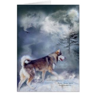 Husky-Winter Spirit ArtCard Card