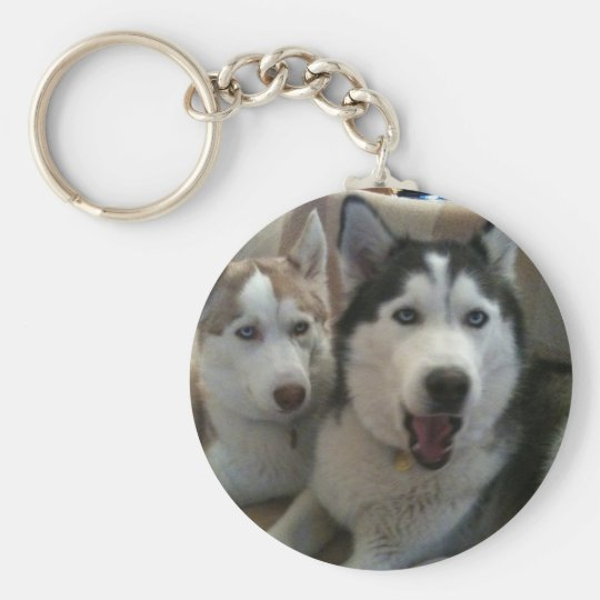 huskys basic round button key ring