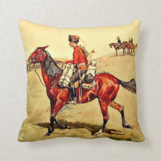 Hussar Russian Guard Corps, Remington painting Cushion