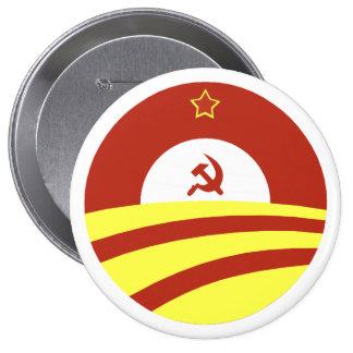 Hussein Obama says: Spread The Wealth 10 Cm Round Badge