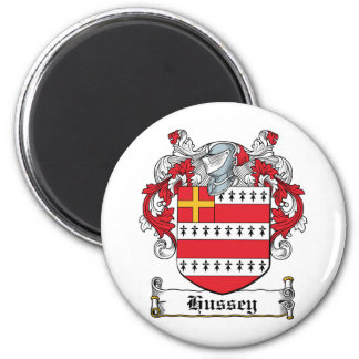 Hussey Family Crest 6 Cm Round Magnet