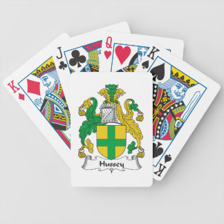 Hussey Family Crest Bicycle Card Decks