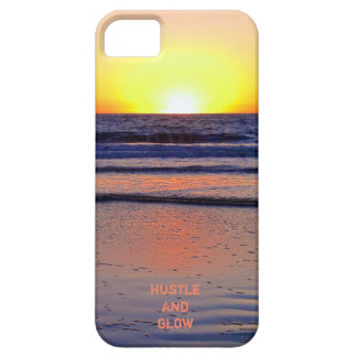 Hustle And Glow Sunset Vibes Barely There iPhone 5 Case