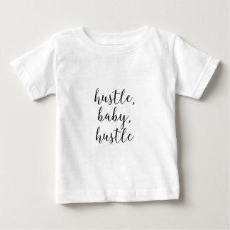 Hustle, Baby, Hustle Cursive Script Baby T-Shirt