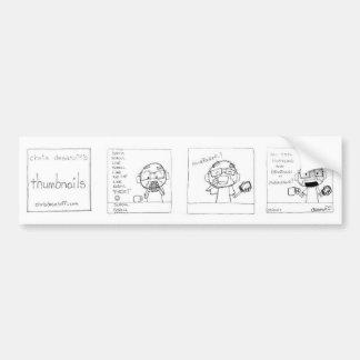 Hustle & Grind Bumper Sticker by Chris Desatoff