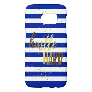 Hustle Hard Gold Foil Effect Samsung Phone Case