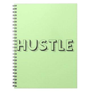 Hustle Modern Typography Notebook