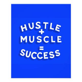 HUSTLE PLUS MUSCLE EQUALS SUCCESS MOTIVATIONAL SAY 11.5 CM X 14 CM FLYER