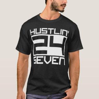 Hustlin 24 Seven - White T-Shirt