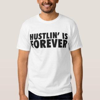 Hustlin' is Forever Black Tshirts