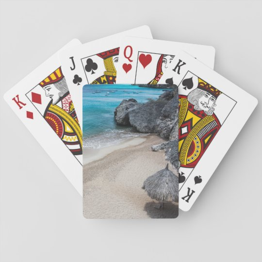 Hut and Beach Playing Cards