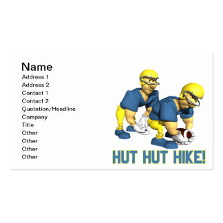 Hut Hut Hike Pack Of Standard Business Cards