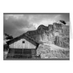 Hut in Dolomite Mountains, Italy Greeting Card