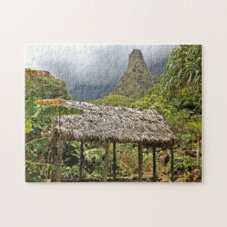 Hut in Iao Valley State Park, Maui, Hawaii Jigsaw Puzzle
