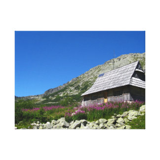 Hut in the Five Ponds Valley Tatras Wrapped Canvas