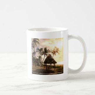 Hut On Beach Basic White Mug