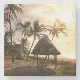 Hut On Beach Stone Coaster