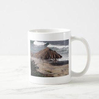 Hut On the Beach Coffee Mugs