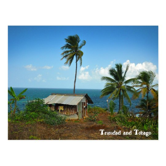 Hut On Trinidad's North Coast Postcard