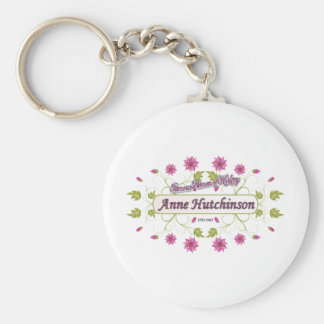Hutchinson ~ Anne Hutchinson  Famous US Women Basic Round Button Key Ring