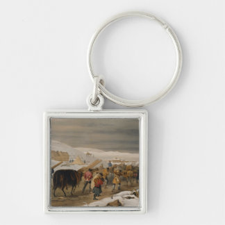 Huts and Warm Clothing for the Army, plate from 'T Silver-Colored Square Key Ring