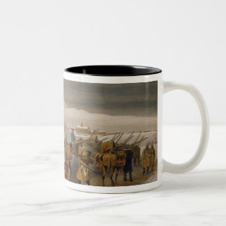 Huts and Warm Clothing for the Army, plate from 'T Two-Tone Coffee Mug