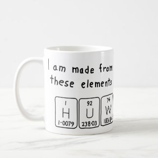 Huw periodic table name mug