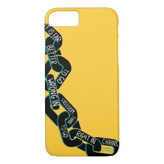 """Huxley Freedom Quote """"In Chains"""" iPhone 7 Case"""