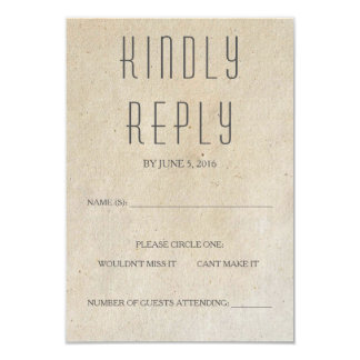 Huxley Modern RSVP Card 9 Cm X 13 Cm Invitation Card