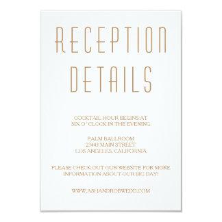 Huxley Modern Wedding Reception card 9 Cm X 13 Cm Invitation Card