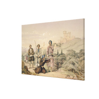 Huzzarehs firing with Juzzaeels, from 'Characters Canvas Print