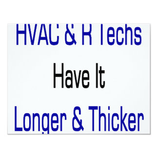 HVAC R Techs Have It Longer And Thicker Personalized Announcement
