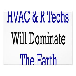 HVAC R Techs Will Dominate The Earth Personalized Announcement