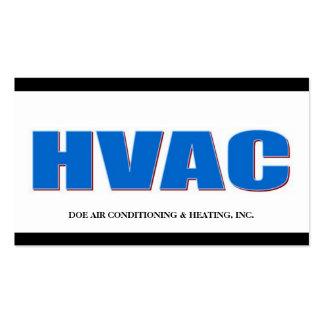 HVAC Technician B/W Bold Business Card Template