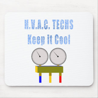 HVAC Techs Keep it Cool.png Mouse Pad