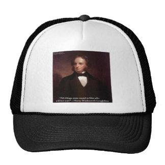 "HW Longfellow ""All Comes Around"" Wisdom Quote Gift Hat"