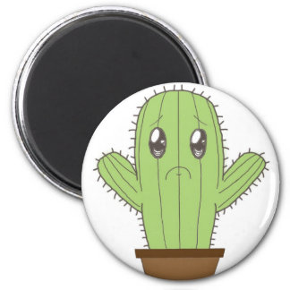 """""""Hwugs???"""" Cactus Magnet"""