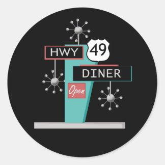 HWY 49 Diner Round Sticker