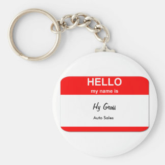 Hy Gross, Auto Sales Basic Round Button Key Ring