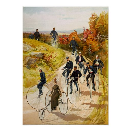 Hy Sandham Bicycling Poster