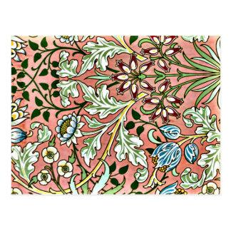 Hyacinth, a William Morris pattern Postcard