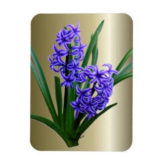 Hyacinth Flower in Full Bloom Rectangular Photo Magnet