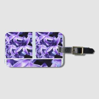 Hyacinth Flower Luggage Tag