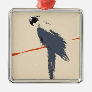 Hyacinth Macaw Alt Art Christmas Ornament