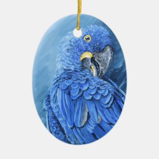 Hyacinth Macaw. Blue macaw just for you Ceramic Oval Decoration