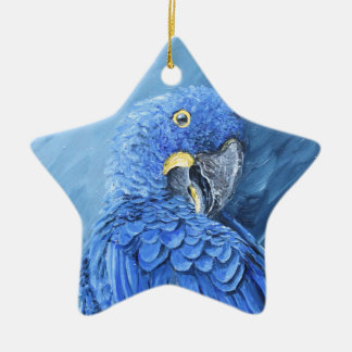 Hyacinth Macaw. Blue macaw just for you Ceramic Star Decoration