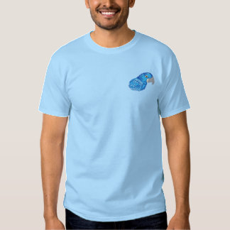Hyacinth Macaw Embroidered T-Shirt