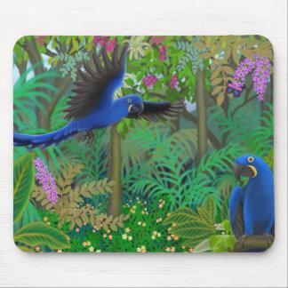 Hyacinth Macaw Jungle Mousepad