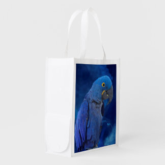Hyacinth Macaw Reusable Grocery Bag