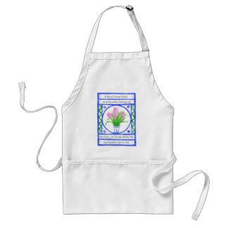 'Hyacinth' White Apron